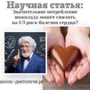 Шоколад против болезней сердца