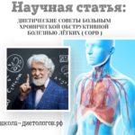 Диетические советы при хроническом заболевании легких