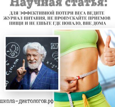 Дневник питания – эффективное средство для снижения веса